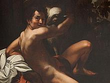 Caravaggio (1571-1610) Follower, 'St. John', 17th Century