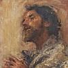 Antonio Mancini (1852 - 1930), 'Il Santone', circa 1900