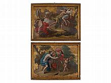 Domenico Vaccaro attr., Pair of Mythological Scenes, 18th C