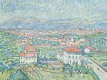 Theo von Brockhusen, View on the Villa Romana, 1913