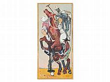 Yvette Alde (1911-1967), Oil Painting, 'Polo', 1954