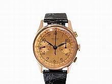 Charles Nicolet Tramelan Gold Chronograph, Switzerland, C. 1955