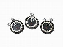 Three Omega Stop Watches, Switzerland, C. 1965
