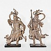 Important Pair of Life-Size Wood Niō Temple Figures, Muromachi