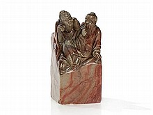 Soapstone Seal with two Scholars, China, Qing