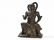 Bronze Figure of Zhenwu, China, late Ming Dynasty