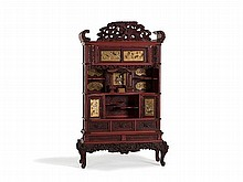 Imposing Cabinet with Shibayama Inlays, Japan, Meiji