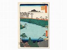 Utagawa Hiroshige, Woodcut 'Kumano Jūnisha Shrine', 1856