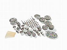 Porcelain Service with Millefleurs Decor, 125 Pieces, 20th C.