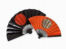2 Command Fans, Gunsen, Paper on Lacquered Wood, Japan, Edo