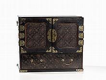 Kodansu Lacquer Cabinet with Ornamental Painting, Japan, Meiji