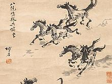 Tang Zuishi, Study of Galloping Horses, China, early 20th C.