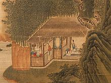 Scroll Painting, Scholar Pavilion on the River Bank, 18/19th C.
