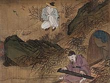 Silk Painting with Depiction of Tao Yuanming, China, 19th C.