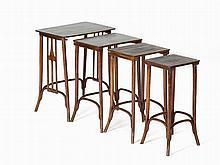 J. & J. Kohn,Set of Four Nesting Tables, Austria, c. 1900