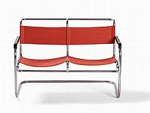 A Steel Tube Bench, 2 Seater, Netherlands, 1930s