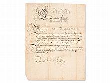Official Letter from Duke August of Brunswick-Wolfenbüttel 1651