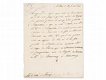Letter by King Louis XVIII. of France from his Exile, 1801