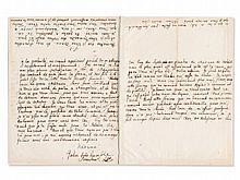 Letter by Johann Samuel König to Madame de Graffigny, c. 1740