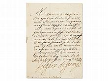 Prince Eugen of Savoy - Handwritten and Signed Letter, 1722