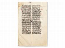 Medieval Manuscript from a Biblia Latina, around 1300