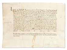Cardinal Juan Lopez Archbishop of Capua - Official Document