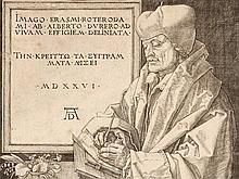 Erasmus of Rotterdam - Copper Engraving by Albrecht Dürer, 1526
