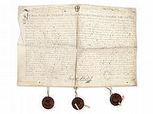Document of Baron Franz von Pillersdorf, Bohemia/Moravia, 1771