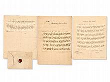 Christian Fürchtegott Gellert - Lot of 3 Letters, around 1760