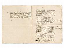 Moses Mendelssohn, Philosophic Manuscript, pres. Berlin 1755