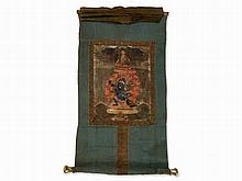 Thangka of Mahakala in a Flaming Aureole, 19th C.