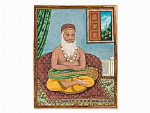 Miniature, Portrait of a Sadhu, Company School, c. 1890