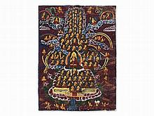 Thangka, Assembly Tree with Tsongkhapa, c. 1900