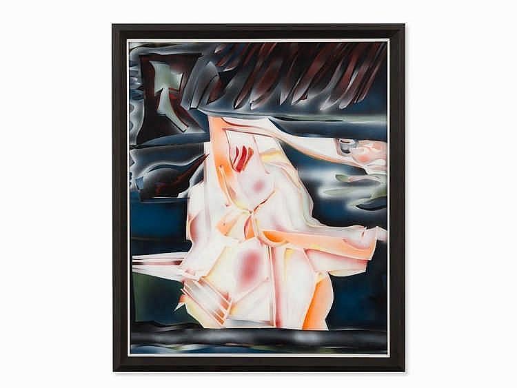 Alexei Baschlakow (1936-1980), Große Gestalt am Meer, 1976
