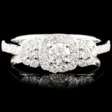 18K Gold 0.71ctw Diamond Ring