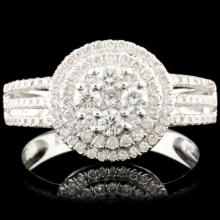 18K Gold 0.65ctw Diamond Ring