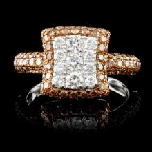 14K Gold 1.55ctw Fancy Diamond Ring