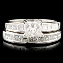 Solid Platinum 3.50ctw Diamond Ring