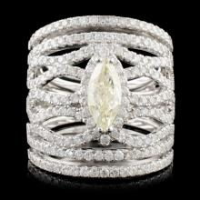 14K Gold 2.58ctw Diamond Ring
