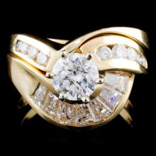 14K Gold 2.22ctw Diamond Ring