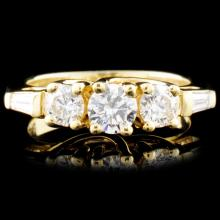 18K Gold 1.16ctw Diamond Ring