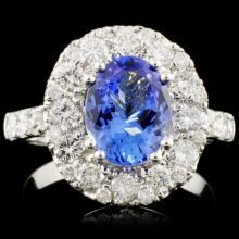 14K Gold 1.83ct Tanzanite & 1.49ctw Diamond Ring