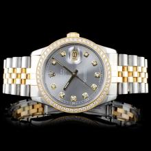 Rolex DateJust 18K/SS 1.50ct Diamond Watch