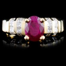14K Gold 1.54ct Ruby & 0.73ctw Diamond Ring