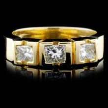18K Yellow Gold 0.69ctw Diamond Ring