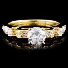 18K Yellow Gold 0.93ctw Diamond Ring