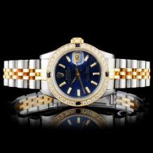 Rolex YG/SS DateJust 1.00ct Diamond Ladies Wristwa
