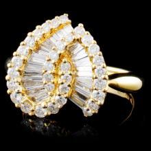 18K Yellow Gold 1.63ctw Diamond Ring