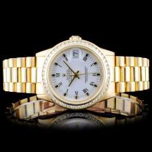 Rolex 18K DateJust Mid-Size 1.00ct Diamond Wristwa