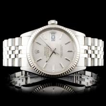 Rolex Stainless Steel DateJust 36mm Wristwatch